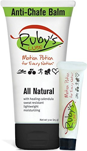 Ruby's Lube - All Natural Anti-Chafe Balm - 3 oz Tube plus Mini Tube -